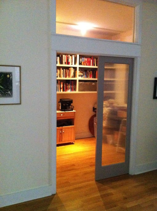 Office - Lots of books plus your fridge and coffee maker!