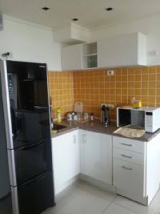 Fully equipped kitchen, microwave, inverter fridge
