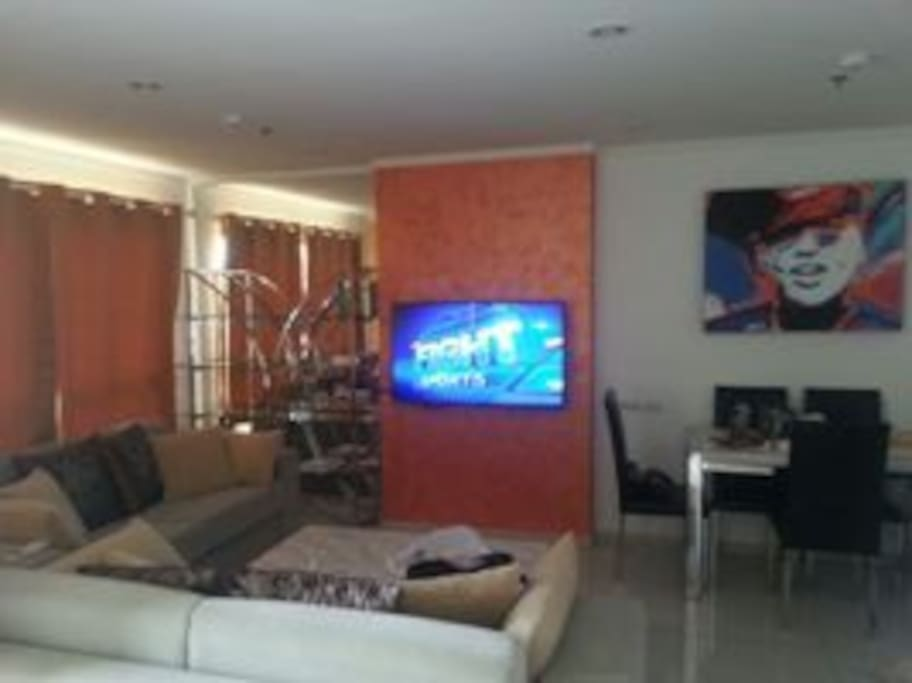 High speed internet,cableTV, 2balcony, 2sofa-beds