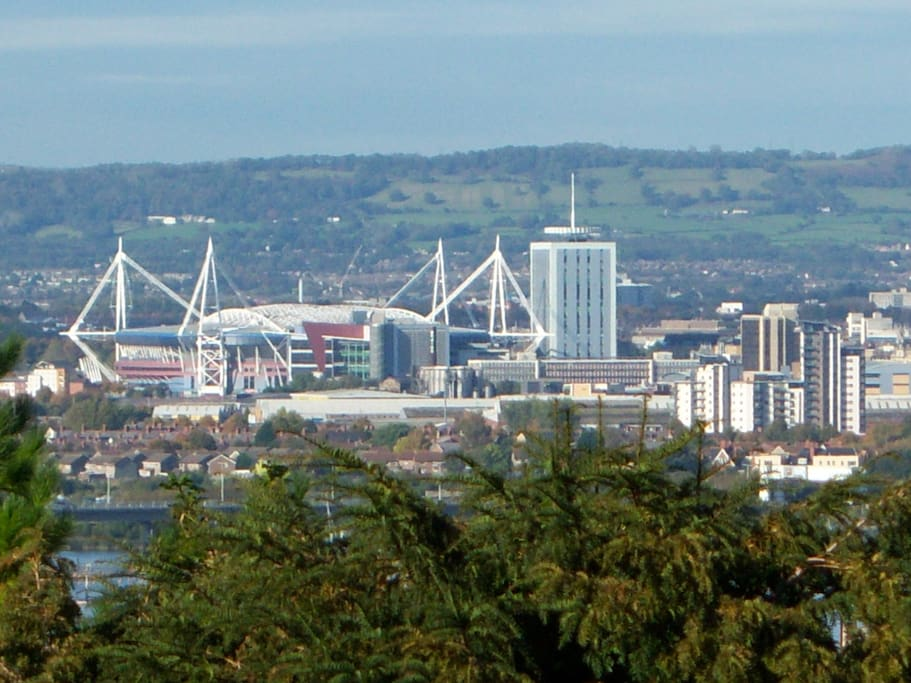 See the Millenium Stadium from near here. Just 15 minutes ride away.