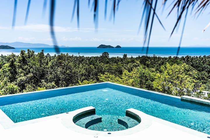    New    Stunning Sea View Villa & Infinity Pool