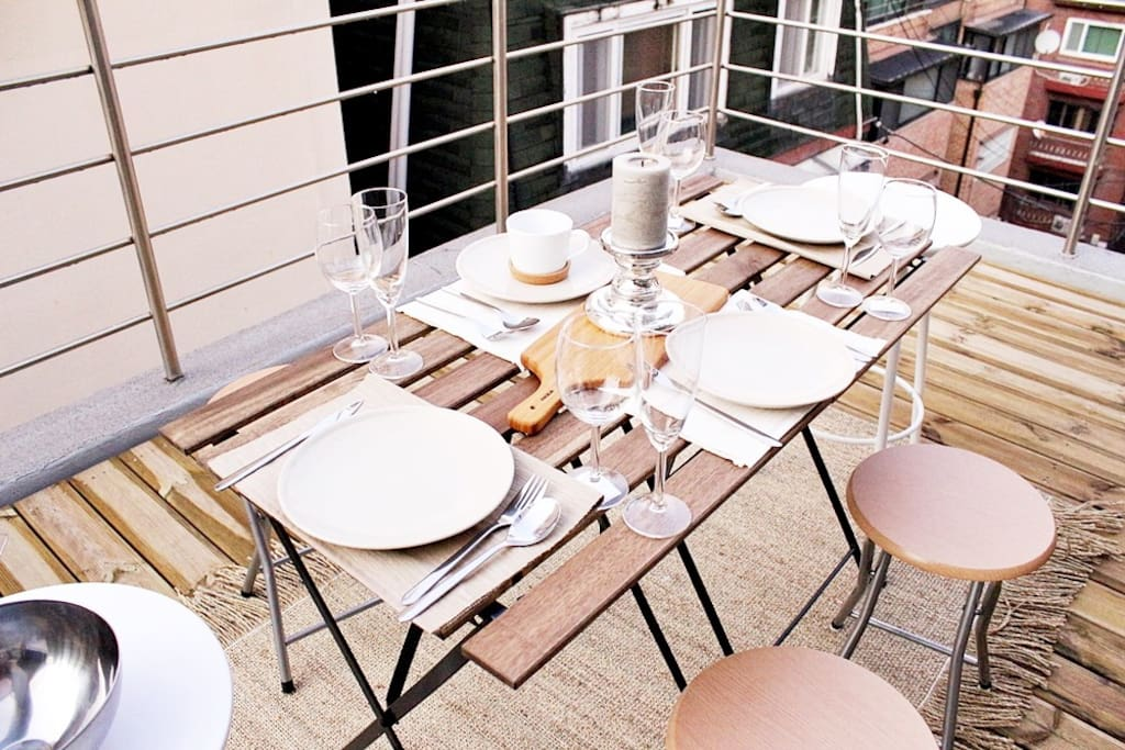 great terrace only for you.