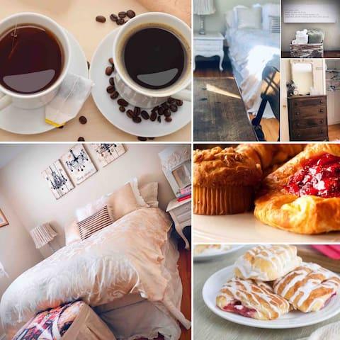 Quiet/Cozy Bedroom /Full Bath /Coffee/Pastries
