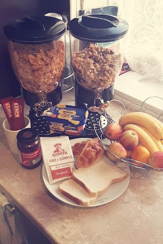 Home away from home with continental breakfast.