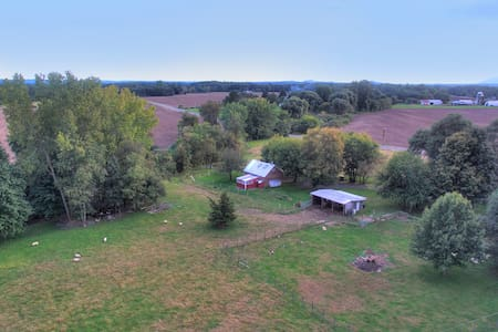 Isolated updated barn farm near Hudson