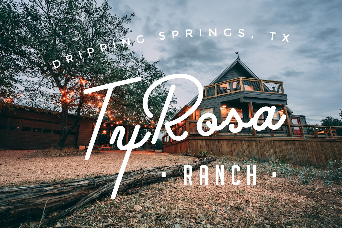 Welcome to TyRosa Ranch, your home away from home in Dripping Springs, Texas. We can't wait to host you! Perfect for corporate retreats, wedding rehearsal dinner, bridal party!
