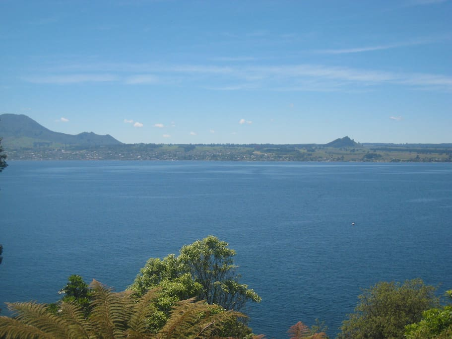 View of Lake Taupo from the House.