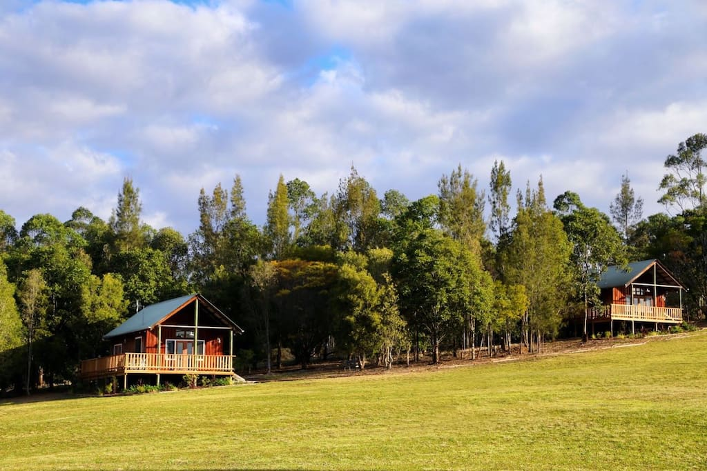 2 cabins each with a view of the stunning Manning River