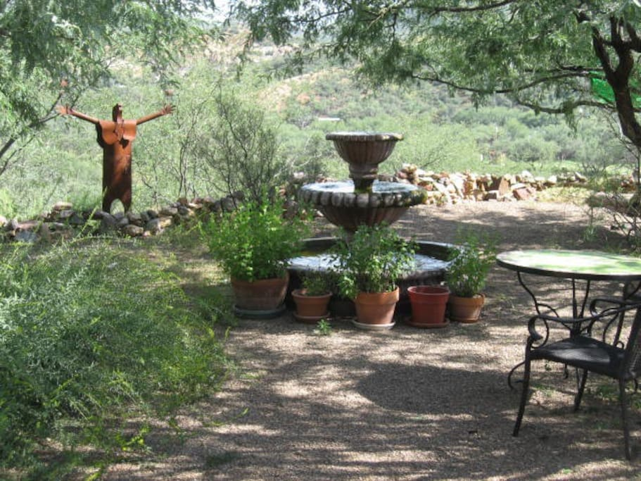 appealing gardens with fountain. . . views and privacy