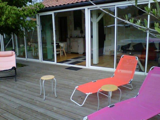 Maison et piscine bassin d'Arcachon