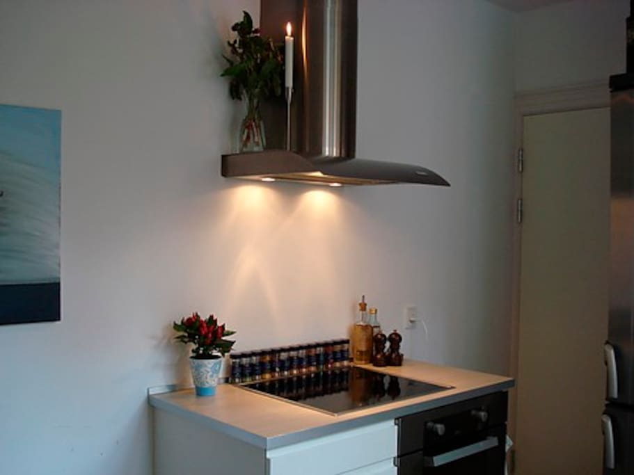 Kitchen with induction cooker