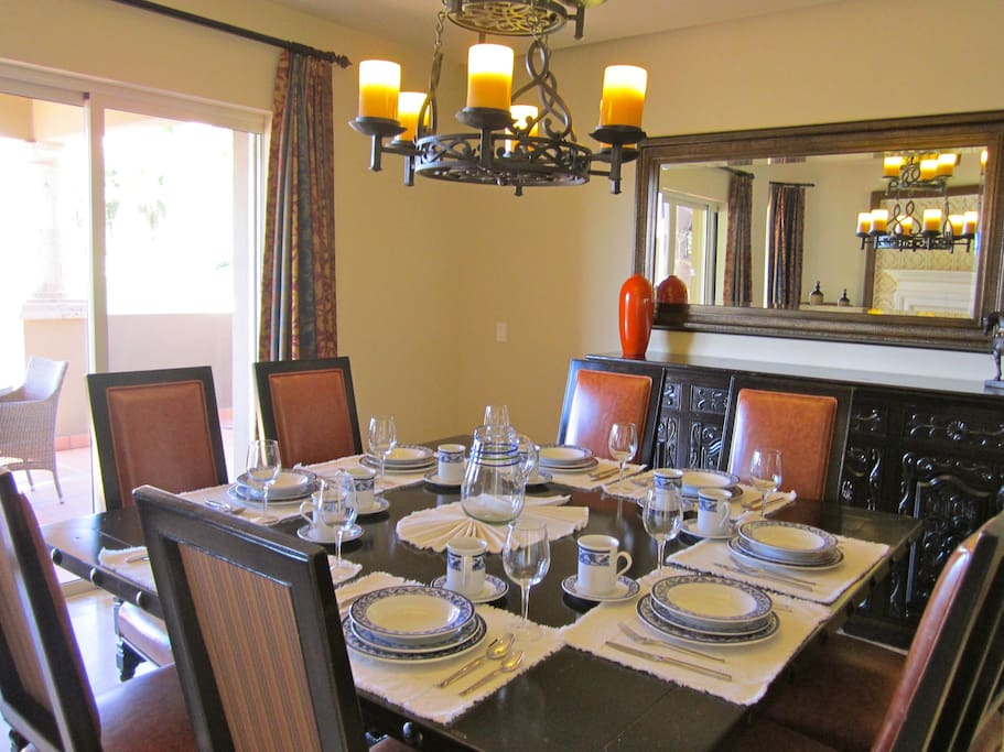 Dining area for big groups