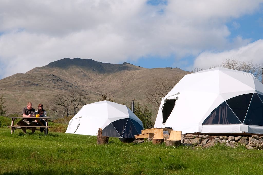 Dome Village with Ben Lawer's in the background.