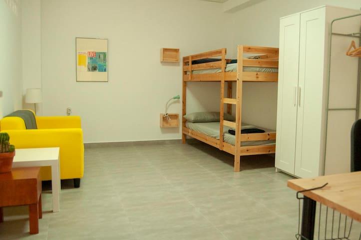 Estudio - Residencia para 1 ó 2 personas
