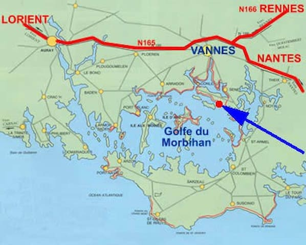 Votre gite DRENEC * bord du Golfe Morbihan 45 îles