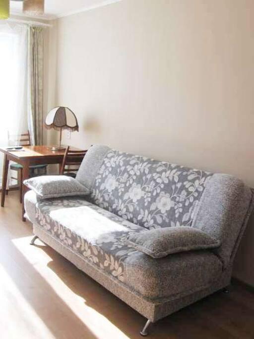 Спальные места - двуспальный диван