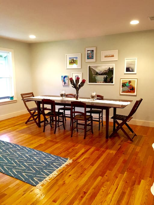 Dining room with plenty of space for up to 10 at the table.