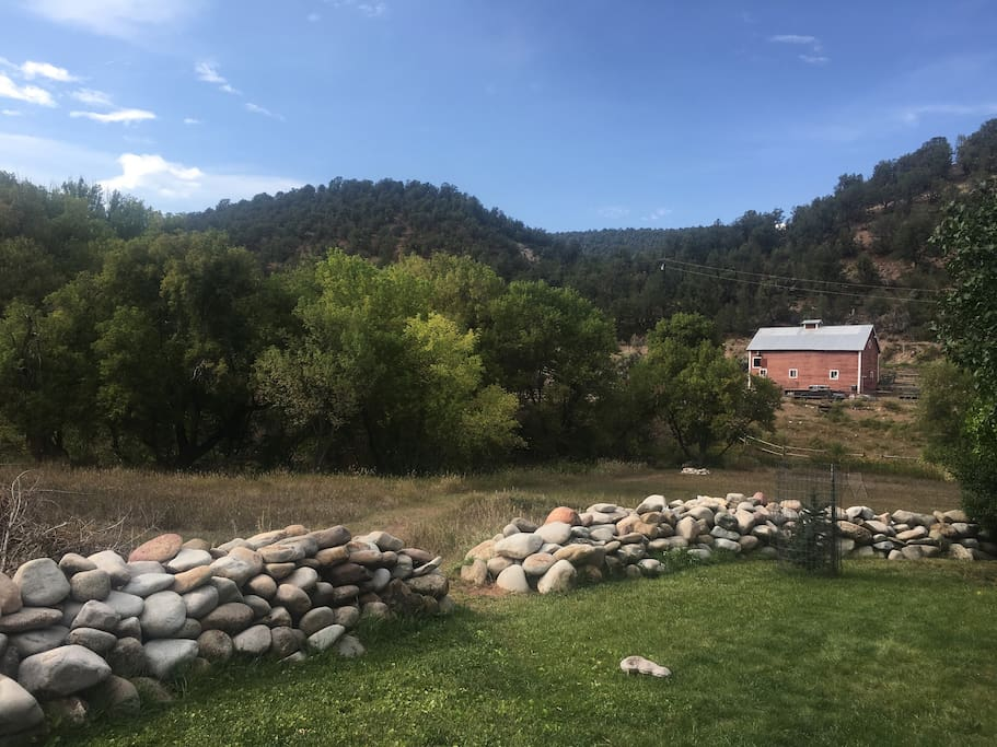 All five acres are at your disposal. Including the fire pit right next to the creek.