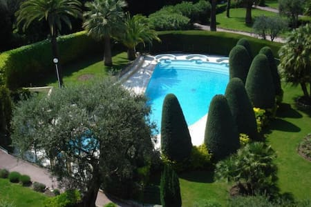 studio rez de jardin piscine tennis - Le Cannet
