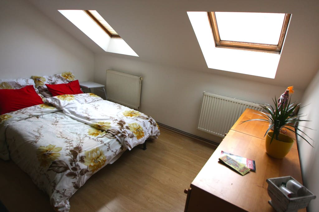 Your private attic room, has a key