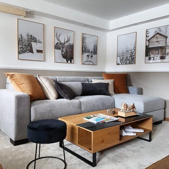 Black Lodge -  Design & Cosy Apartment in Megève