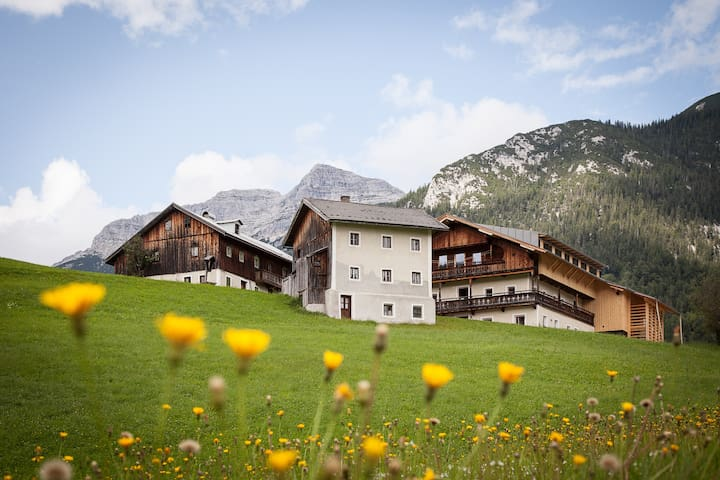 .Wow! This really an unique Tyrolean farmhouse ensemble, 400y old, rough but top so cute