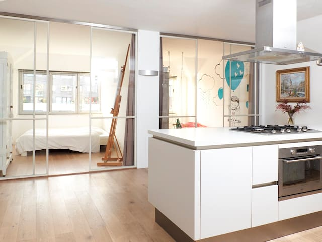 Large open kitchen.