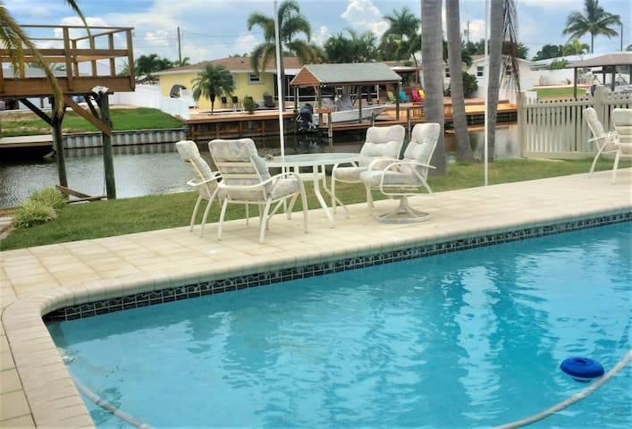 Beautiful Canal Home with Pool & Boat Dock
