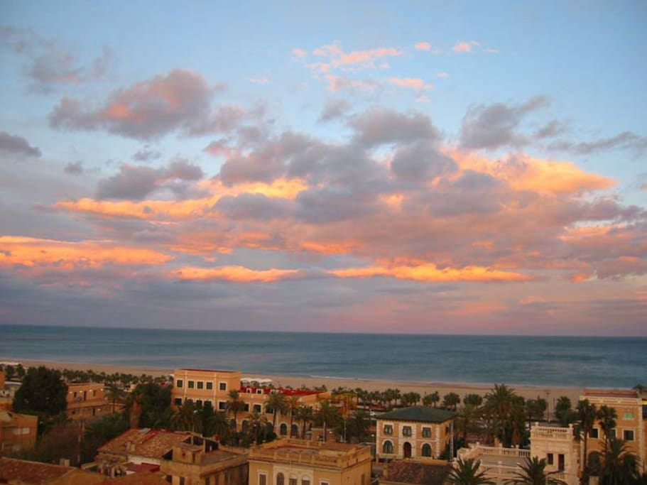 View from the top of the building: Mediterranean skies are memorables