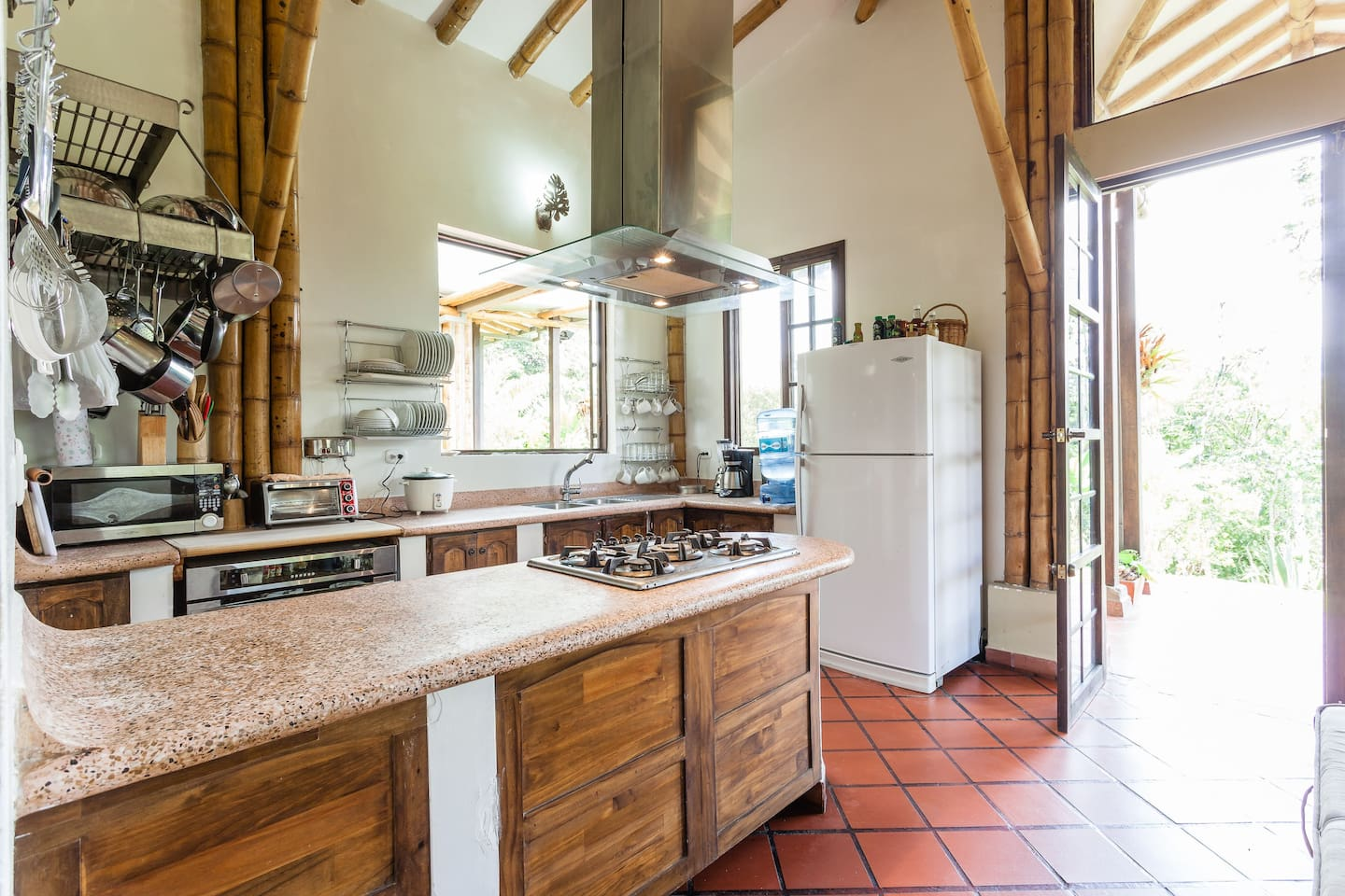 Kitchen of main house where breakfast is served