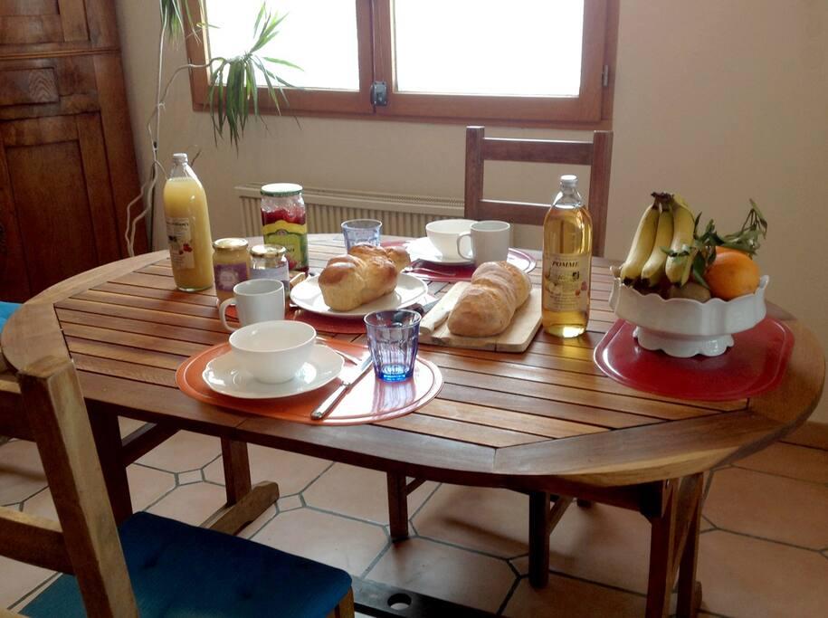 Un super petit déjeuner avant de partir randonner à pied, à ski ou à VTT.