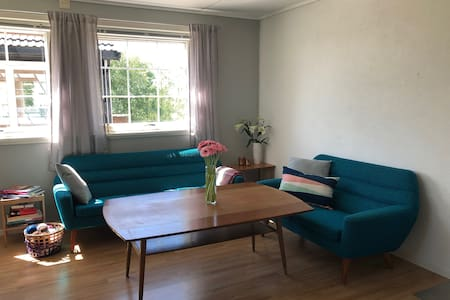 Spacious flat just  7 minutes drive from E39.