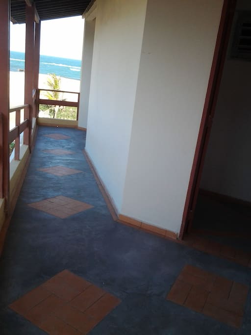 Corredor de acesso aos quartos
