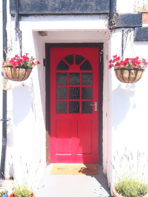 Lower flat's front door
