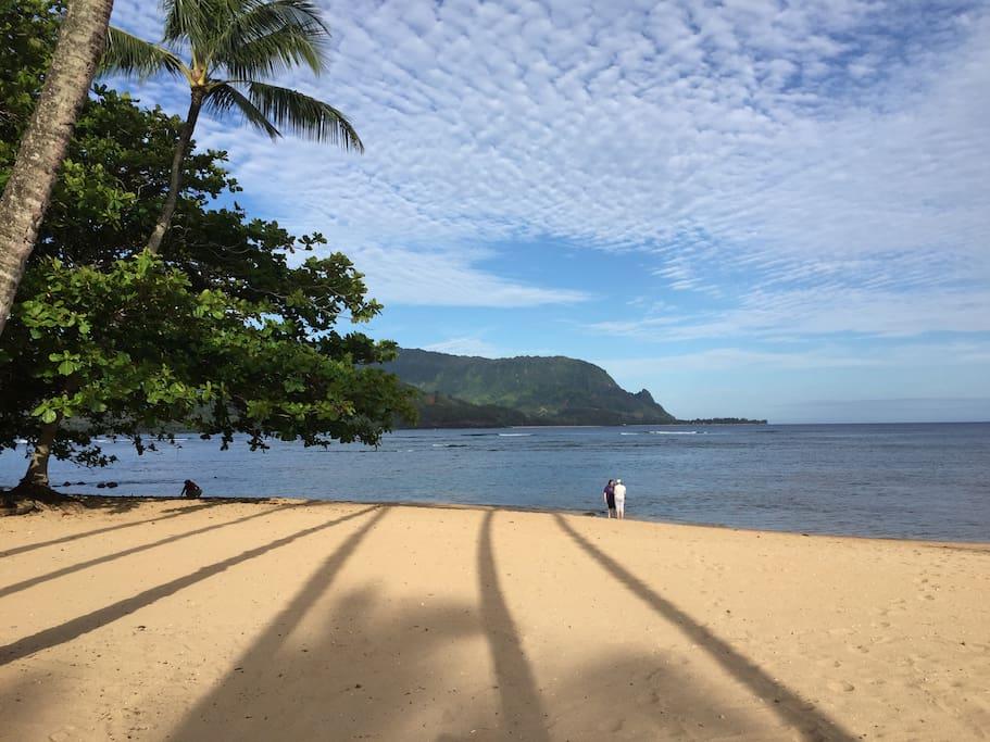 Beach down the hill