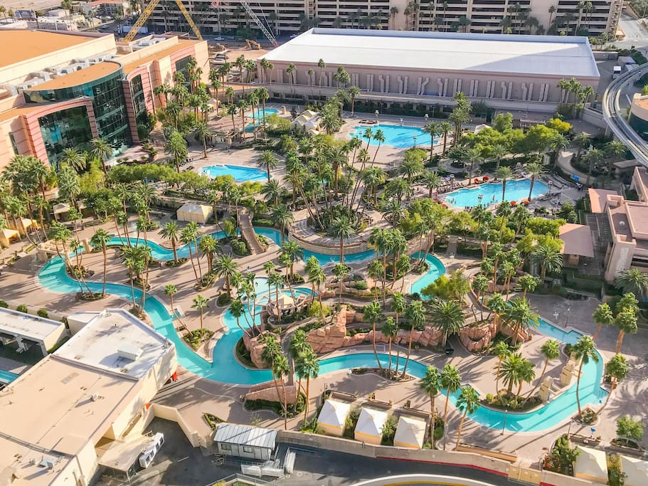 MGM Grand pools  - there's one of every flavor!