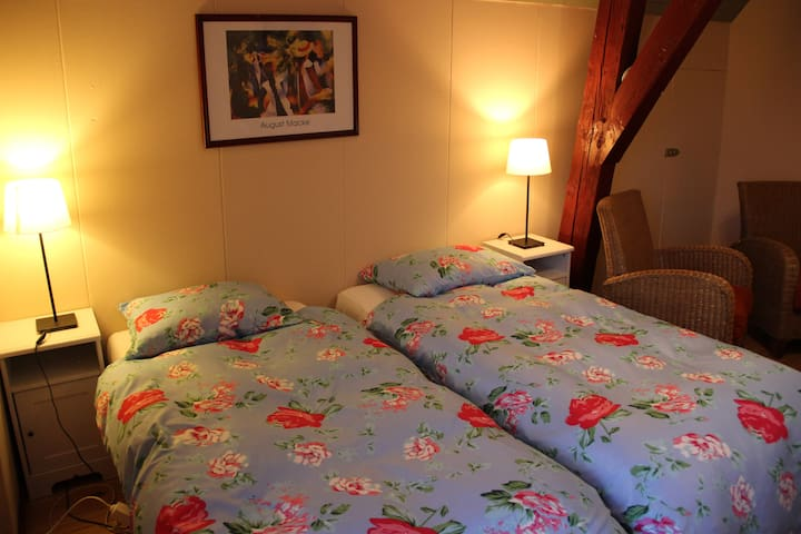 Room (1) with boxspring in old farm - Westbroek - Bed & Breakfast