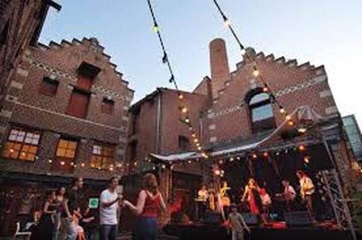Cette ancienne brasserie du XIX siècle est depuis 2004, année durant laquelle lille fut capitale européenne de la culture, un équipement Culturel pluridisciplinaire.  Facebook : «Maison folie moulins»