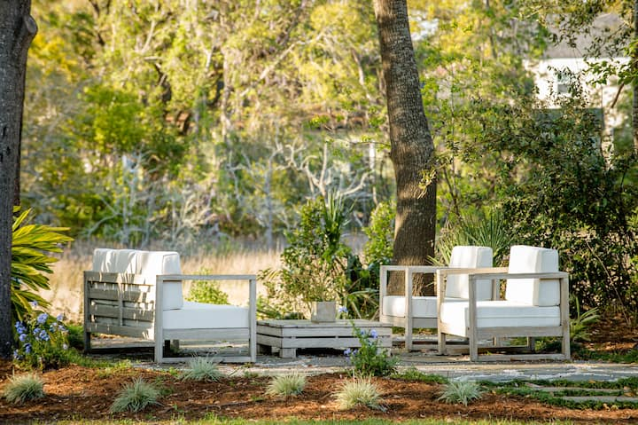 Bright Marshfront Cottage from Charleston Magazine