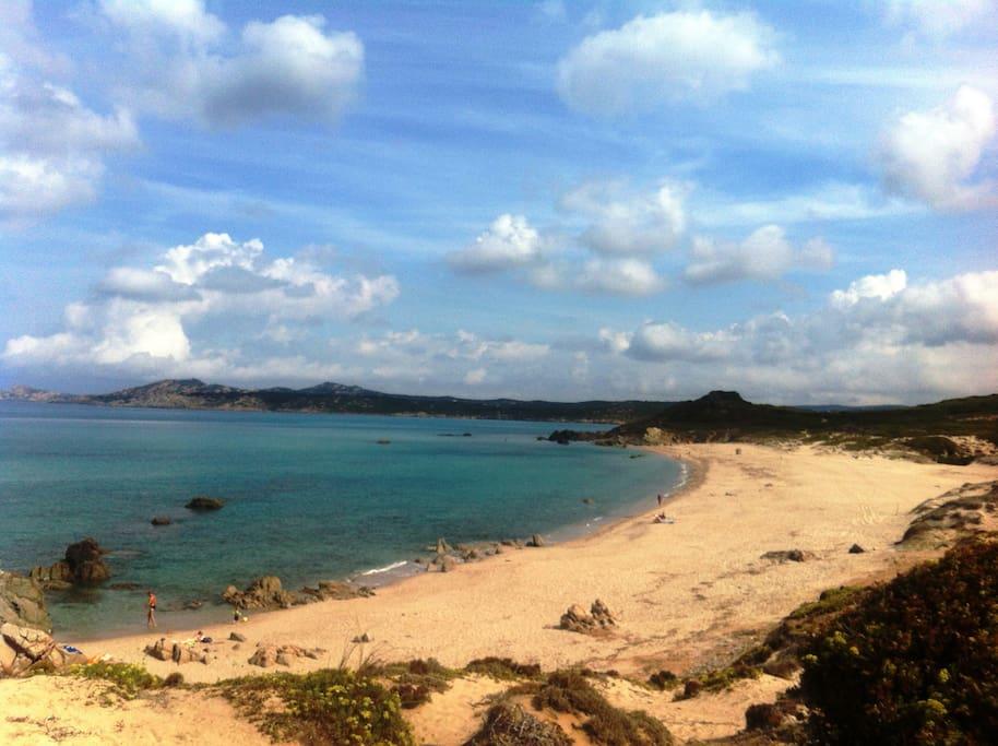 Spiaggia Rena di Matteo (3rd beach of three located here.)