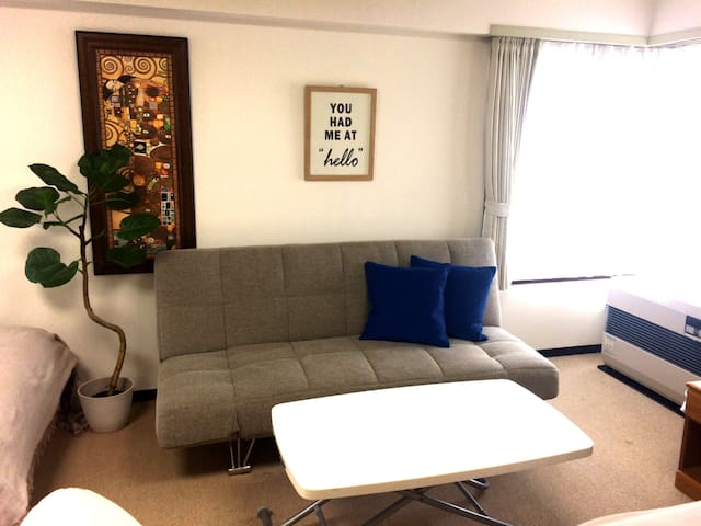 clean & tidy room, near subway & park, 2-4 people - Chuo Ward, Sapporo - Apartamento