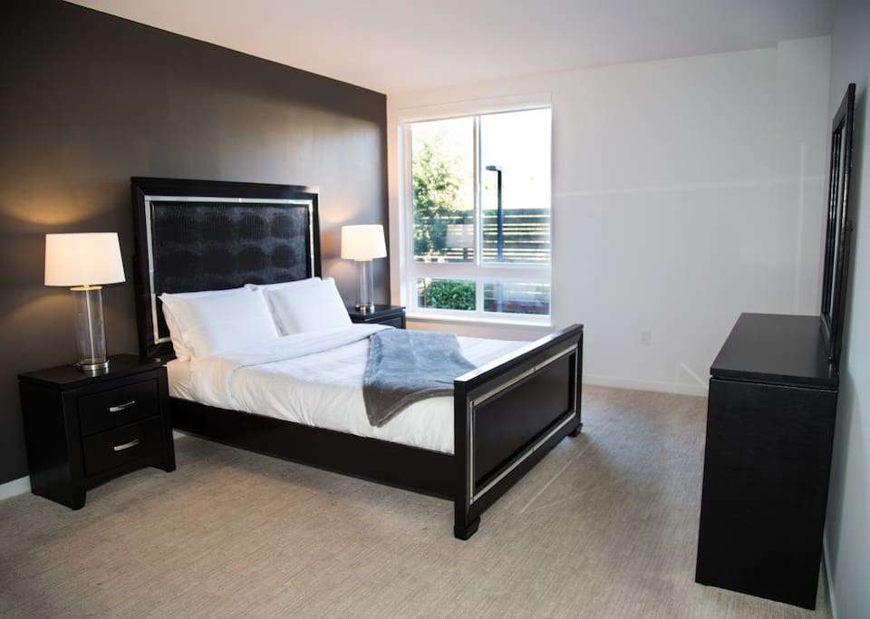 Welcome to your new home away from home - Master Bedroom Pictured (Queen Bed + 1 Queen Aero Bed)