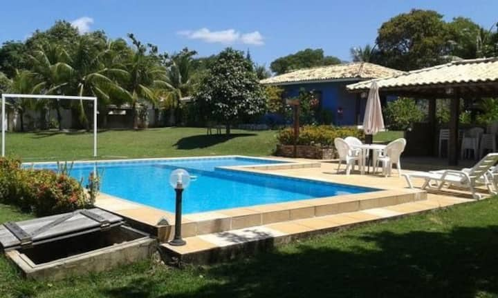 Casa de praia - piscina, campo fut, churrasqueira