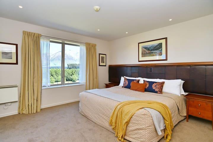 Bedroom 1 has a Super King bed with an En suite spa bathroom