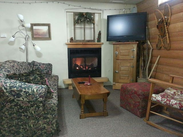 Cabin Themed Basement Room - Rolfe - Bed & Breakfast