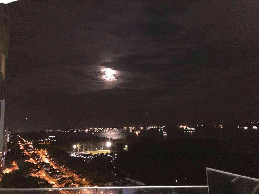 Moon (view from Balcony)