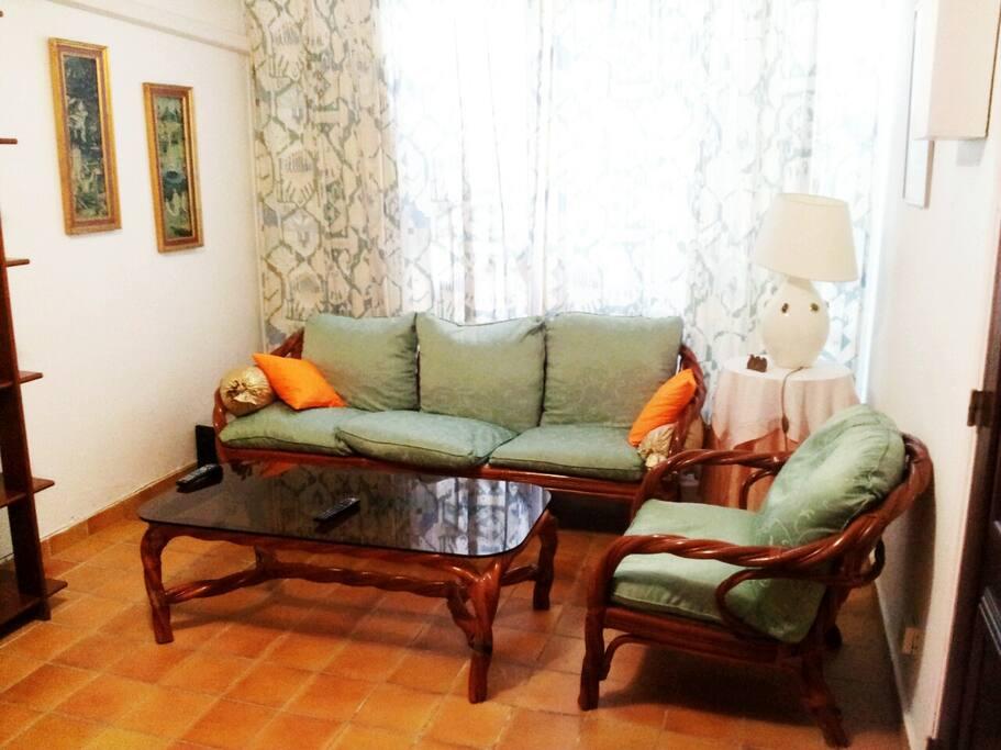 Salon confortable climatisé