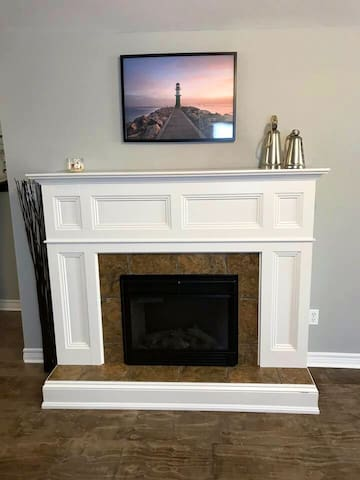 Electric Fireplace-Living Room