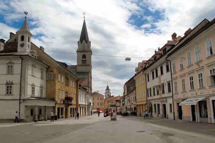 slovenia, city center, Kranj, Skala 4