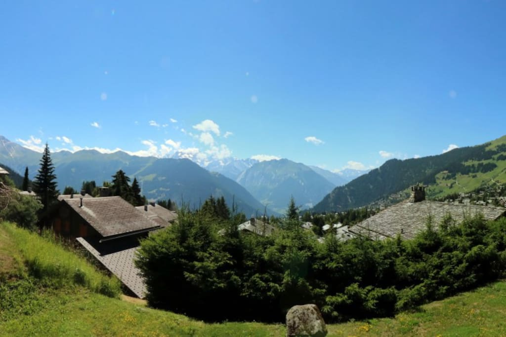 View from the balcony of the chalet.
